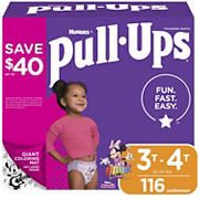 Huggies Pull-Ups Learning Designs Training Pants for Girls, Size 3T-4T, 116 ct.