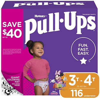 Huggies Pull-Ups Learning Designs Training Pants for Girls, Size 3T-4T