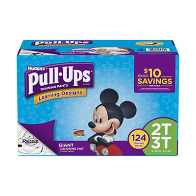 Huggies Pull-Ups Learning Designs Training Pants for Boys, Size 2T-3T,