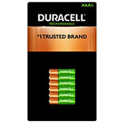 Duracell Rechargeable AAA Pre-Charged Batteries, 6 ct.