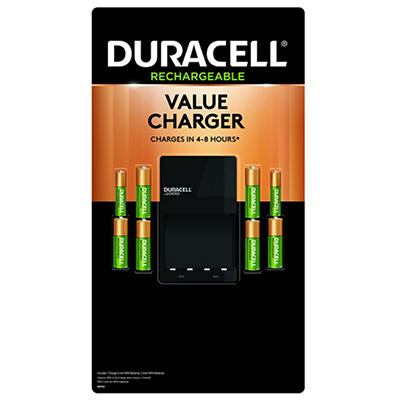 Duracell Ion Speed 1,000 NiMH Battery Charger with 6/AA and 2/AAA Batt