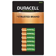 Duracell Rechargeable AA Pre-Charged Batteries, 6 ct.