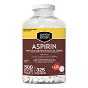 Berkley Jensen Aspirin Coated Tablets for Adults, 500 ct.