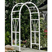 New England Arbors Wellington Vinyl Arbor - White