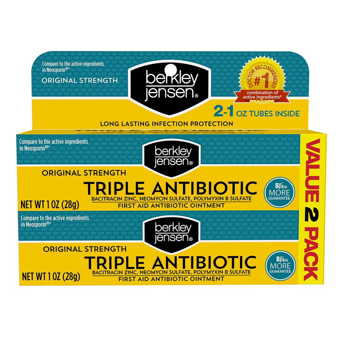 Berkley Jensen Triple Antibiotic Ointment, 2 pk /1 oz