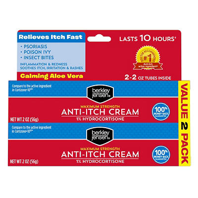 Berkley Jensen Hydrocortisone 1% Cream, 2 pk./1 oz.