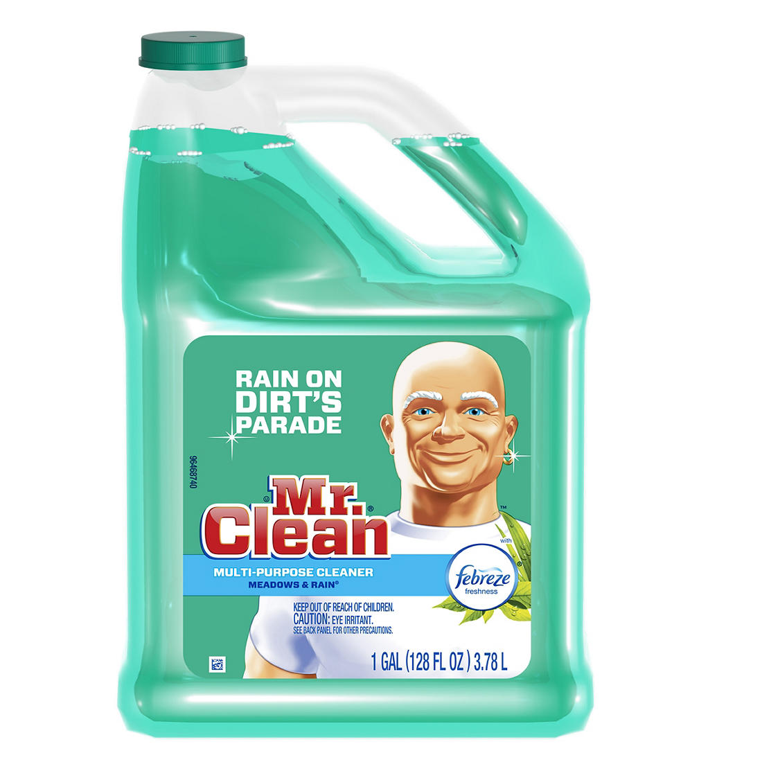 picture relating to Mr Clean Coupons Printable titled Mr. Fresh new Liquid All Cause Cleaner with Febreze Meadows Rain Smell, 128 oz.