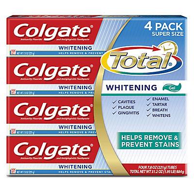 Colgate Total Whitening Toothpaste, 4 pk./7.8 oz.