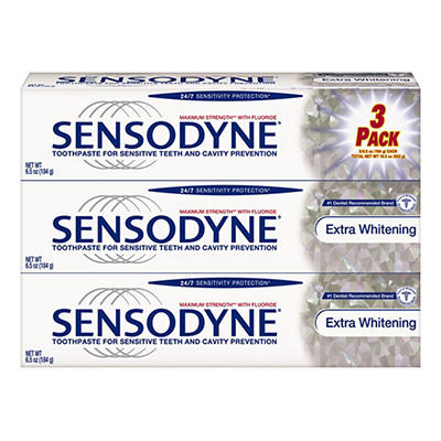 Sensodyne Extra Whitening Toothpaste, 3 pk./6.5 oz.