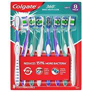 Colgate 360 Toothbrushes, 8 pk.