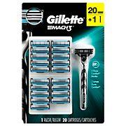 Gillette Mach3 Base Razor with 20 Blade Refills