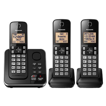 e903d12b0 Panasonic DECT 6.0 PLUS 3-Handset Expandable Digital Cordless Phone ...