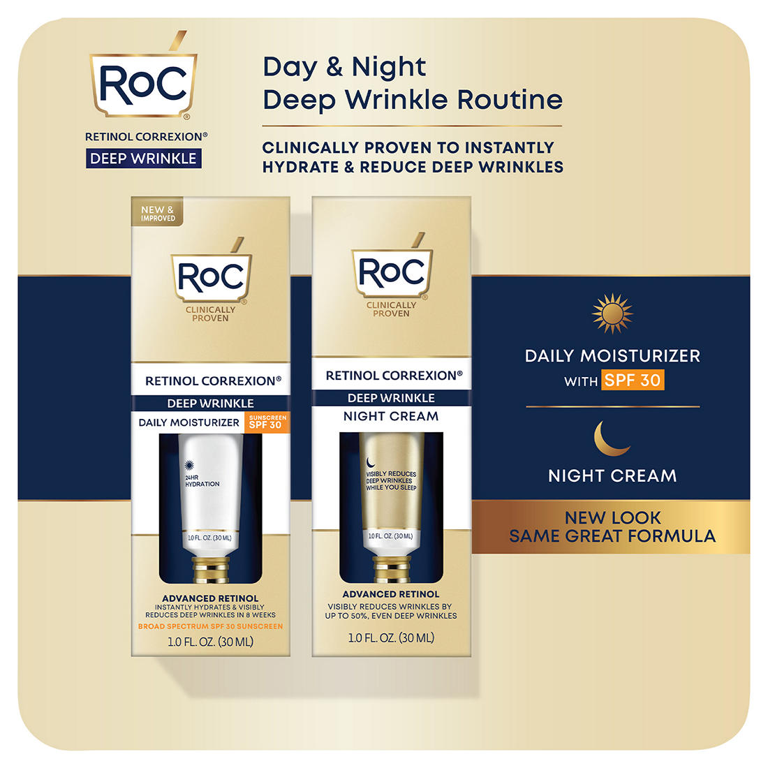 Roc Retinol Correxion Deep Wrinkle Treatment Daily Moisturizer
