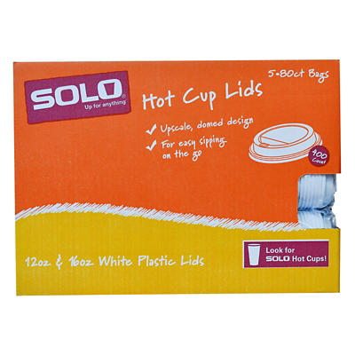 Solo Dome Lid for Hot Cups, 132 ct. - White