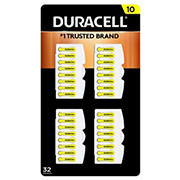 Duracell Hearing Aid 10 Battery, 32 ct.