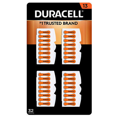 Duracell Hearing Aid 13 Battery, 32 ct.
