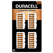 Duracell Hearing Aid 312 Battery, 32 ct.