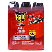 Raid 17.5-Oz. Ant and Roach Killer Spray, 3 pk. - Red