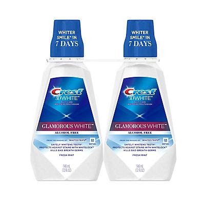 Crest 3D White Luxe Glamorous White Mouthwash, 2 pk./32 oz.