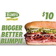 $10 Blimpie Gift Card, 3 pk.