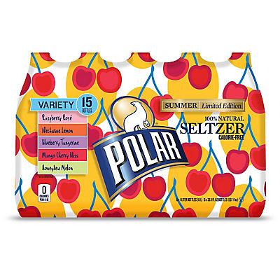 Polar Seltzer Summer Variety, 15 pk./1L