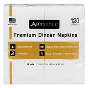 "Artstyle 17"" Napkins, 120 ct. - White"
