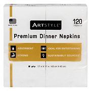 "Artstyle 17"" Napkins, 120 ct. - White"