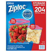 Ziploc Mixed Storage Pack, 204 ct.