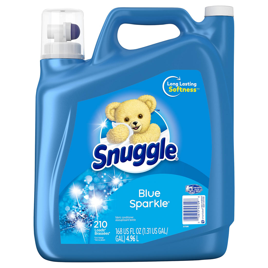 image relating to Snuggle Coupons Printable identify Snuggle Extremely Blue Sparkle Liquid Cloth Softer With Clean Launch, 168 fl. oz.