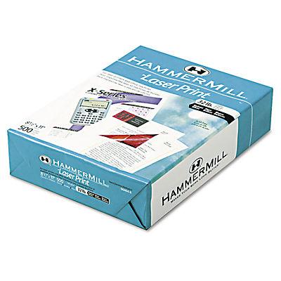 Hammermill Laser Copy Paper, 98 Brightness, 32 lb., Letter, 1 Ream, 50