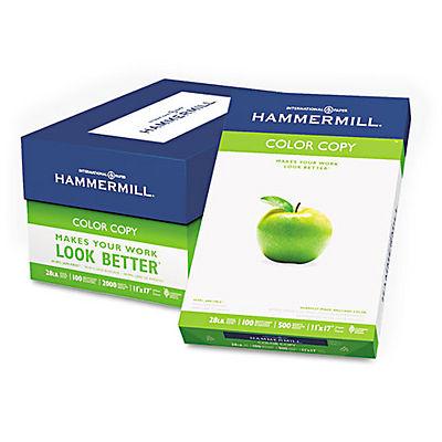 """Hammermill Color Copy Paper, 100 Brightness, 28 lb., 11"""" x 17"""", 1 Ream, 500 Sheets"""