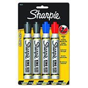 Sharpie King Size Marker with Chisel Tip, 4 per Pack - Blue/Red/Black