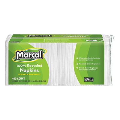 Marcal Recycled Napkins, 2,400 ct. - White