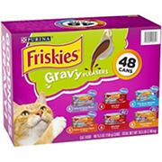 Purina Friskies Gravy Pleasers Cat Food Variety Pack,  48 ct./5.5 oz.
