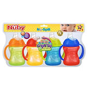 The Nuby No-Spill Super Spout Grip N' Sip Cup, 4 pk.
