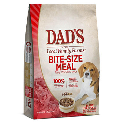 Dad's Bite Size Meal Chicken Flavored Dry Dog Food, 50 lbs.