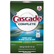 Cascade Complete Powder Dishwasher Detergent, Fresh Scent, 125 oz.
