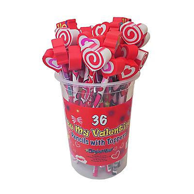 DesignWay Valentine Topper Pencils, 36 ct.