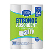 Berkley Jensen 160-Sheet Choose-a-Size Paper Towels, 12 pk.