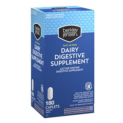 Berkley Jensen Dairy Digestive Supplement, 180 ct.