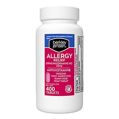 Berkley Jensen 25mg Diphenhydramine Hydrochloride Antihistamine Tablet