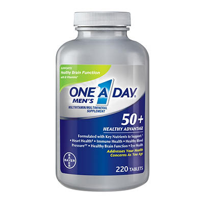 One A Day Men's 50+ Healthy Advantage Multivitamin Tablets, 220 ct.