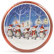 """Artstyle 10"""" Dinner Plates, 40 ct. - Penguin March"""