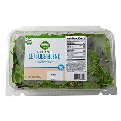Wellsley Farms Organic Baby Lettuce, 16 oz.
