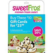 $10 SweetFrog Gift Card, 3 pk.
