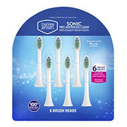 Berkley Jensen Sonic Pro Advanced Clean Replacement Brush Heads, 6 pk.