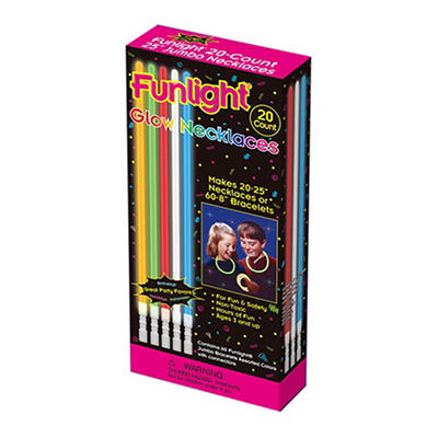 Funlight Assorted Glow Necklaces, 60 ct.