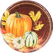 "Artstyle 7"" Dinner Plates, 75 ct. - Cornucopia"