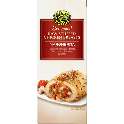 Barber Foods Unbreaded Margherita Stuffed Chicken Breast, 6 ct.