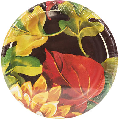 "Artstyle 7"" Dinner Plates, 75 ct. - Fall Leaf"